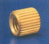 BRASS STRAIGHT KNURLED MOLDING INSERTS